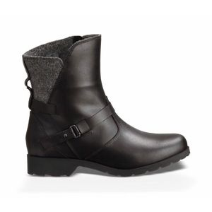 Teva De La Vina low wool ankle boot leather black